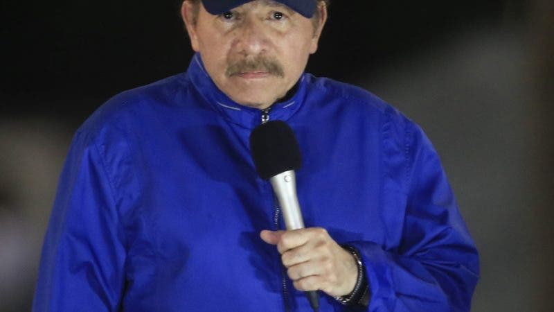 Nicaragua's President Daniel Ortega speaks during the inauguration ceremony of a highway overpass in Managua, Nicaragua, Thursday, March 21, 2019. Ortega's government and opposition began negotiating Thursday how to carry out the release of hundreds of political prisoners arrested in the past year of unrest, after the government announced Wednesday it would free the prisoners within 90 days in exchange for the lifting of external sanctions. (AP Photo/Alfredo Zuniga)