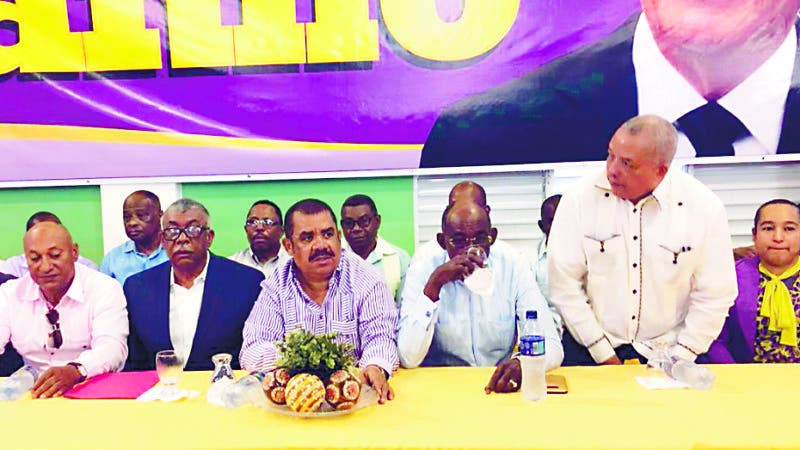 Celebran actividad reelecionista en Elias piña, a favor del presidente Danilo Medina encabezada por el senador Sánchez Roa. Fuente externa 17/03/2019