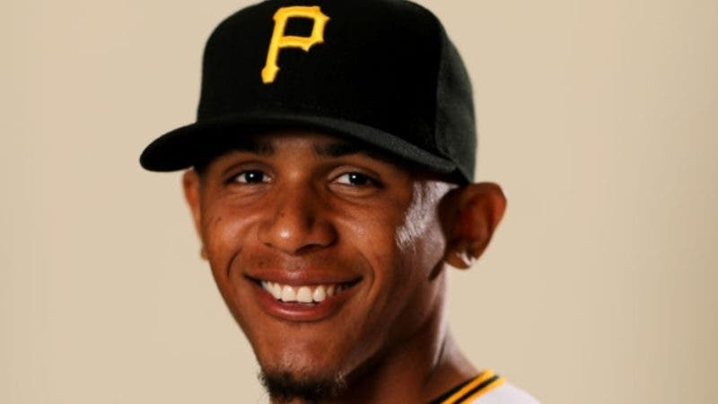 BRADENTON, FLORIDA - FEBRUARY 20:  Erik Gonzalez #2 of the Pittsburgh Pirates poses for a portrait during the Pittsburgh Pirates Photo Day on February 20, 2019 at Pirate City in Bradenton, Florida. (Photo by Elsa/Getty Images)