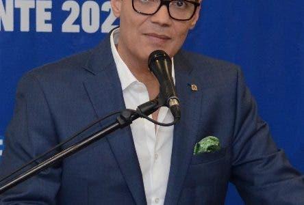 El aspirante a la presidencia, Ramfis Domínguez Trujillo, anunció  renunció al Partido  Demócrata Institucional-PDI- para  salvaguardar la transparencia, la integridad y mantener el proyecto impoluto. Durante una Rueda de Prensa en un hotel de esta Cuidad. Santo Domingo Rep. Dom. 28 de marzo del 2019. Foto Pedro Sosa