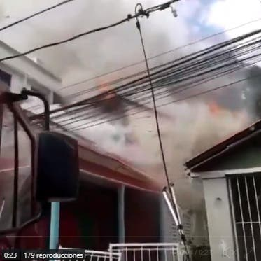 Incendio afecta antigua casa de Joaquín Balaguer en Santiago