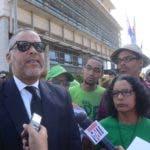Macha Vende anuncia marcha denuncia de los funcionarios que son corrupción en todos el mes de marzo  en  la Suprema Corte de Justicia de Santo Domingo Rep. Dom. 11 de marzo del 2019. Foto Pedro Sosa