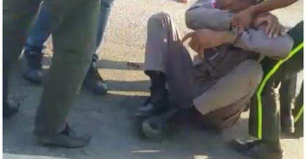 Video: Vea el lío que se armó entre miembros de la Digesett  y un Policía