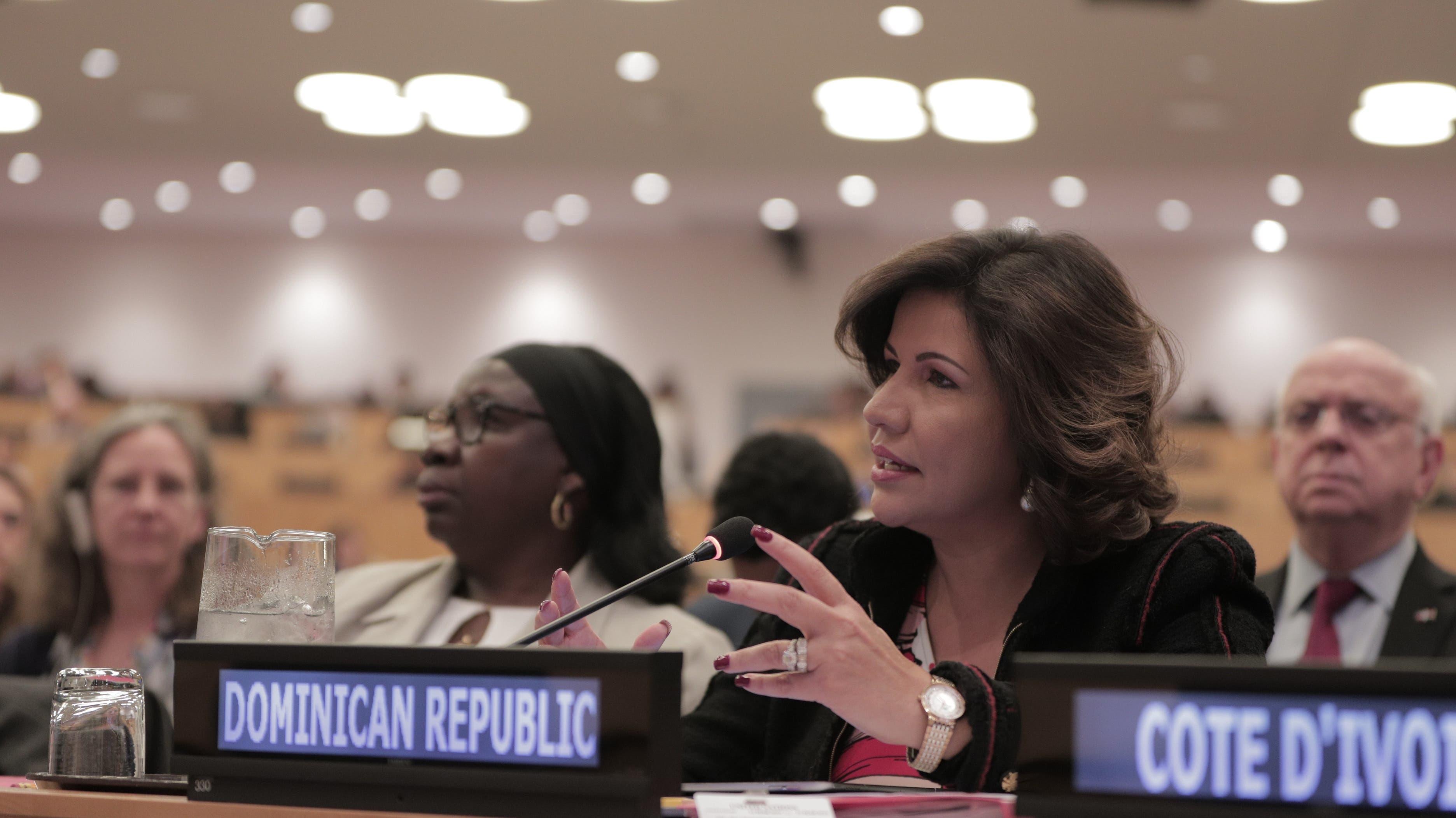 Margarita Cedeño insta a naciones enfrentar impunidad en crímenes contra mujeres y niñas