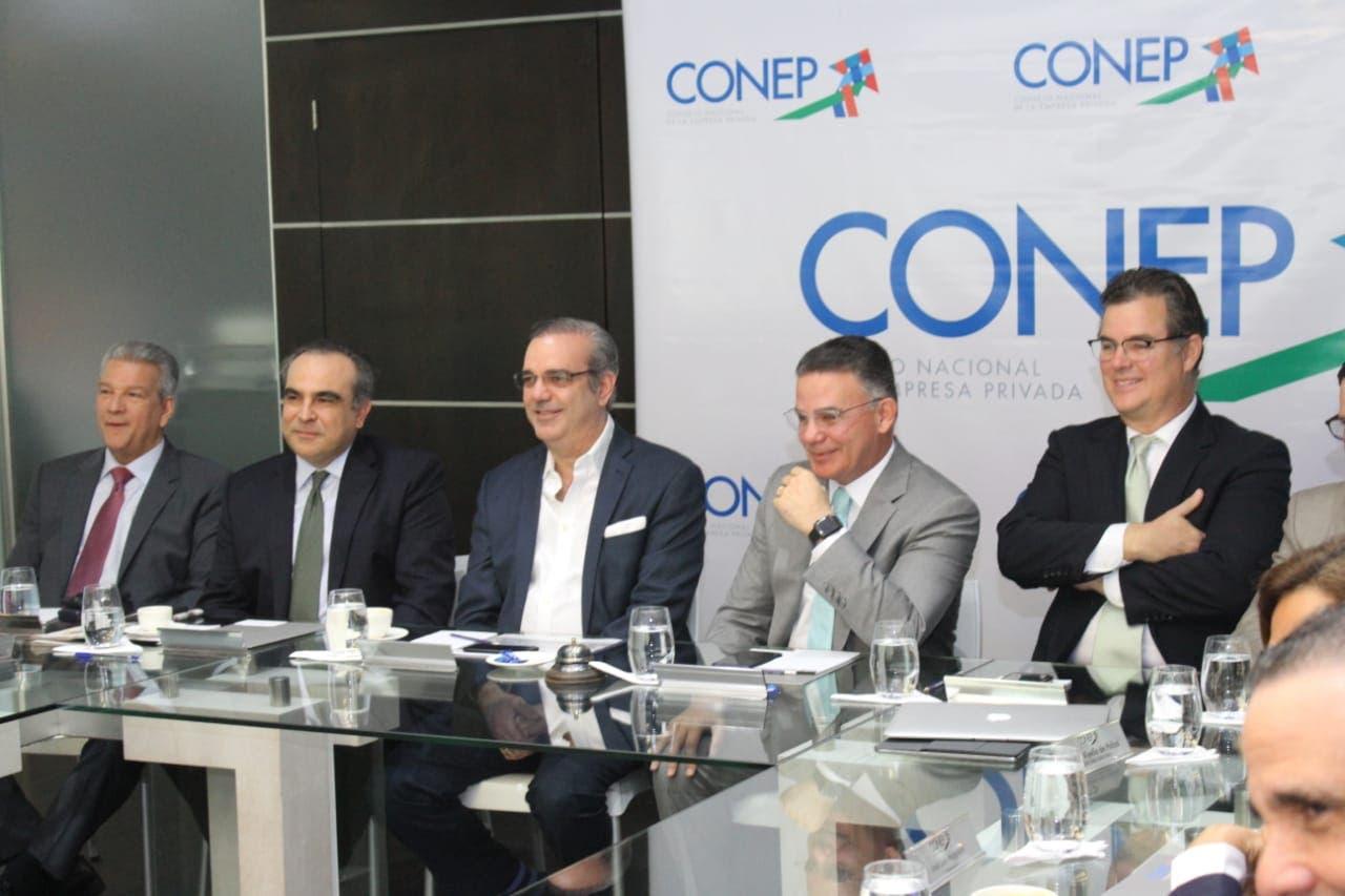 Luis Abinader valora interés del Conep en agenda de desarrollo social del país