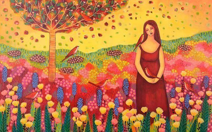 Mujer-en-el-campo-feliz