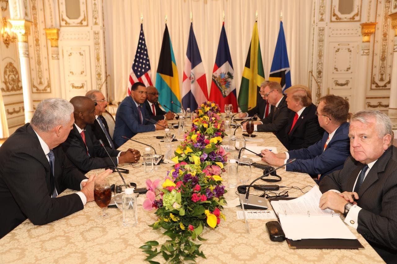 Danilo Medina y líderes del Caribe están reunidos con Donald Trump en Miami