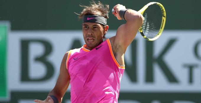 Rafael Nadal se retira de semifinales del torneo de Indian Wells por  lesión en una rodilla