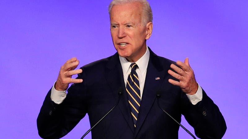 En esta imagen de archivo, tomada el 5 de abril de 2019, el exvicepresidente de Estados Unidos, Joe Biden, interviene en el IBEW Construction and Maintenance Conference en Washington. (AP Foto/Manuel Balce Ceneta, archivo)