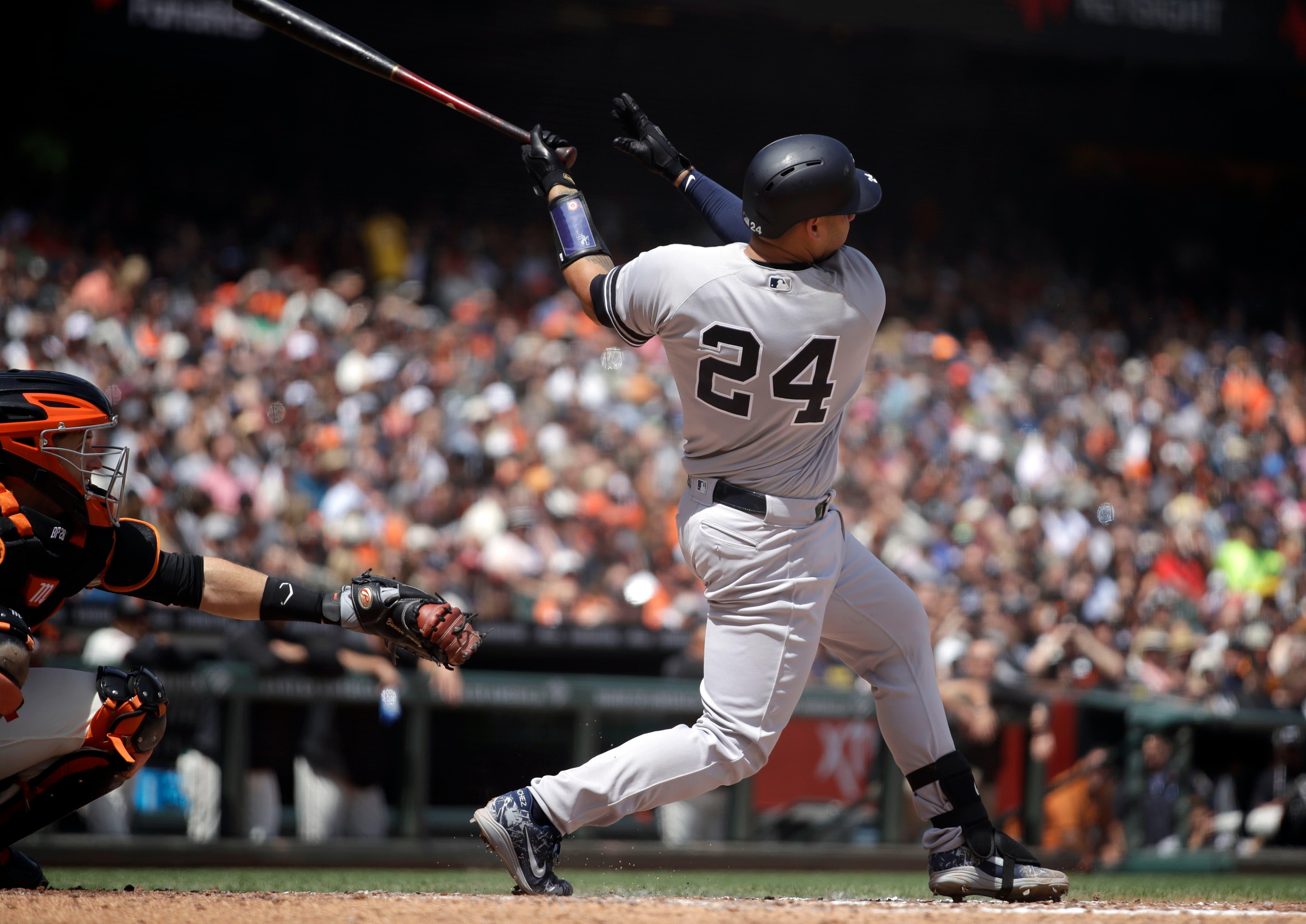 Yankees se imponen a S.F. con grand slam de Gary Sánchez