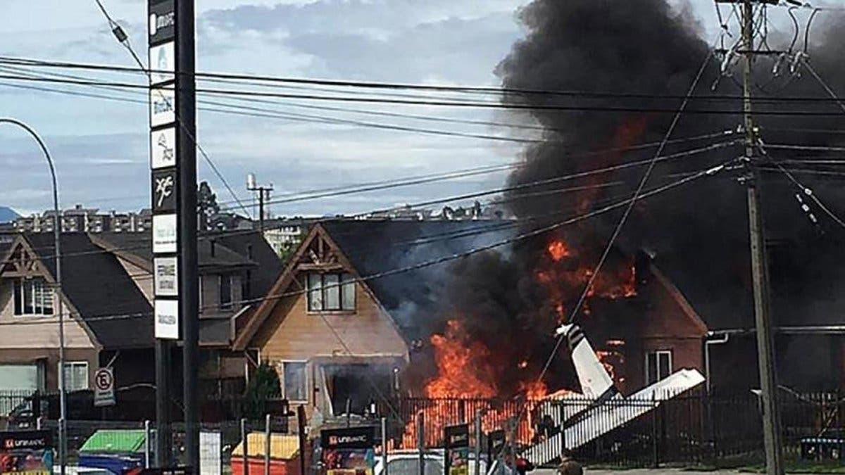 Seis personas mueren al caer una avioneta sobre una vivienda en el sur de Chile