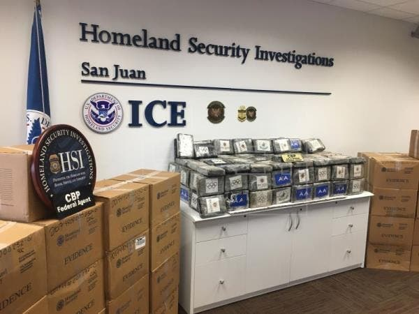 Detienen a dos dominicanos con 1.480 kilos de cocaína en el sureste de Puerto Rico