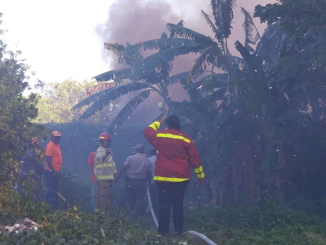 Fuego afecta zona protegida Laguna de Mallen en SPM; Evacuan familias