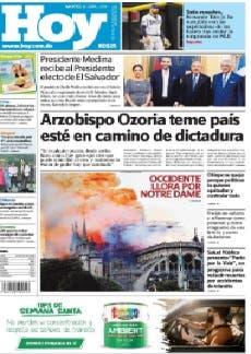 Edición impresa HOY martes 16 de abril del 2019