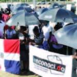 Manifestación de descendientes de haitianos.