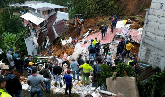 Más de 14 personas muertas por un deslizamiento en el suroeste de Colombia