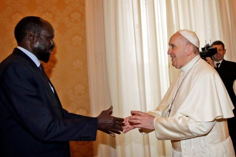 Presidente de Sudán del Sur y opositor se reúnen en Vaticano