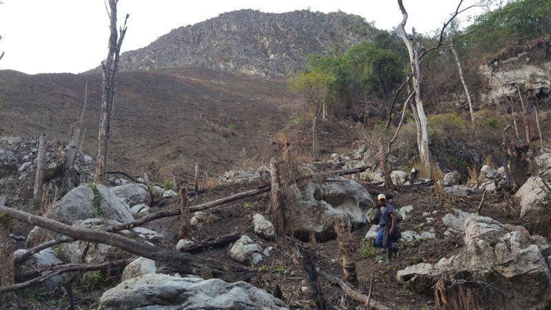 Deforestacion en Loma Nalga de Maco, en la Cordillera Central. Hoy/Cortesia Jose Then 2/5/19