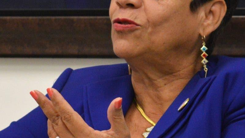 Entrevista a la Alcaldesa de Sabana Grande de Boyá señora Bertilia Fernández, para la sesión Hablan los Alcaldes del Periódico Hoy, durante una visita a la redacción. Foto/ Napoleón Marte 23/05/2019