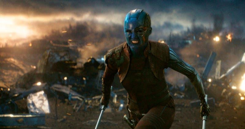 """5.  Disney shows Karen Gillan in a scene from """"Avengers: Endgame."""" (Disney/Marvel Studios via AP)"""