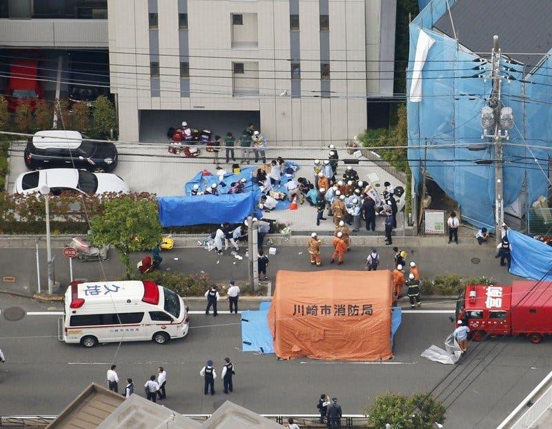 Video: hombre armado con cuchillo mata a dos menores e hiere a 16 en Japón