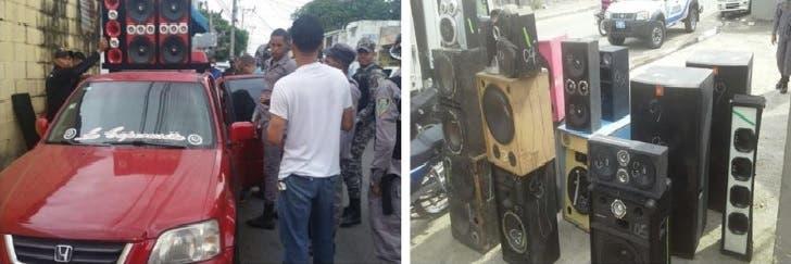 Conductores iban en vehículos con la música muy alta y esto hizo la Policía