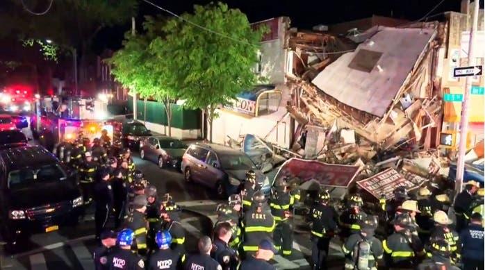 Se derrumba  edificio en Brooklyn tras ser embestido por un vehículo
