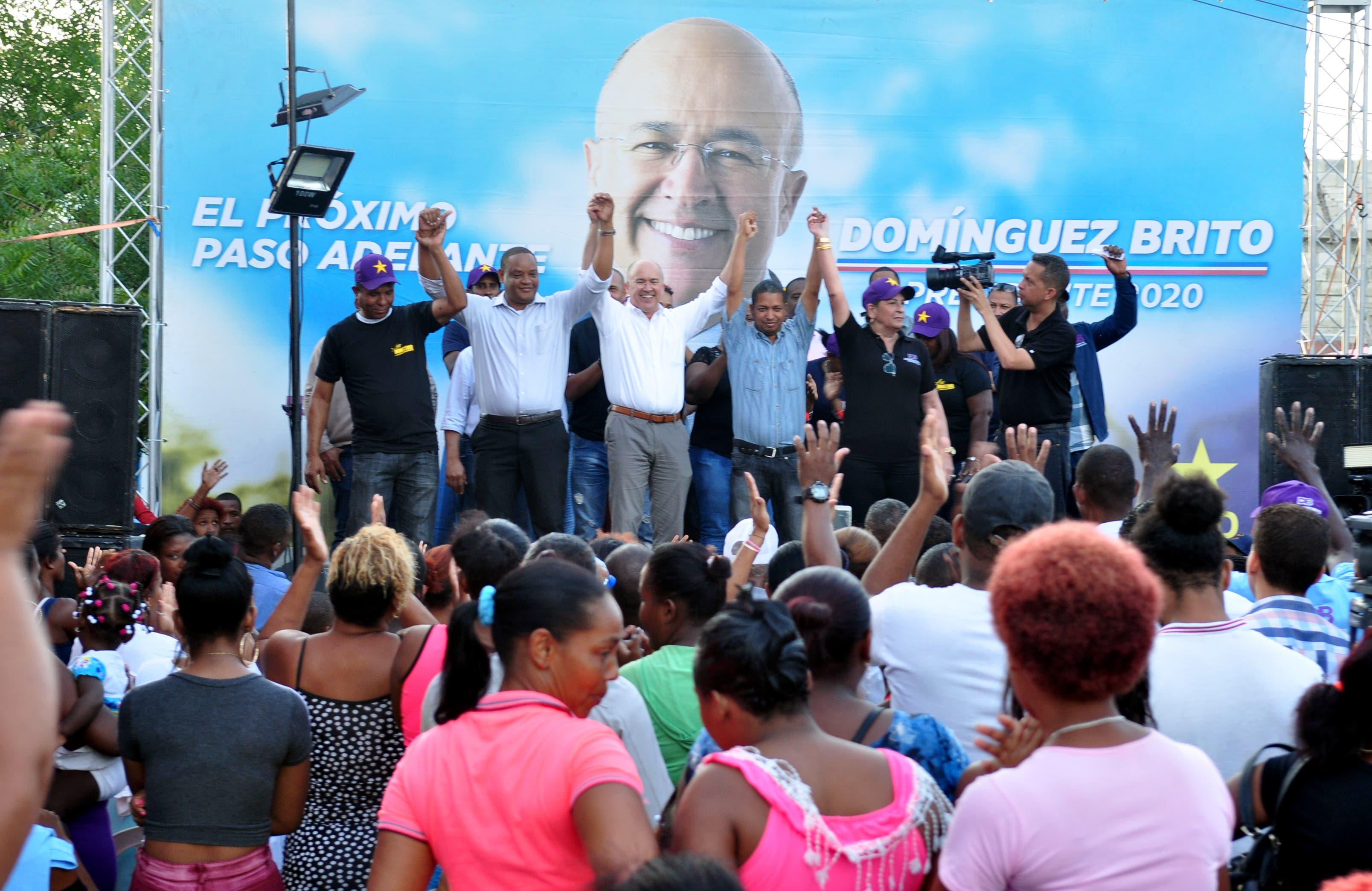 """Domínguez Brito dice """"no hay razones para bajar la guardia"""" en su proyecto político"""