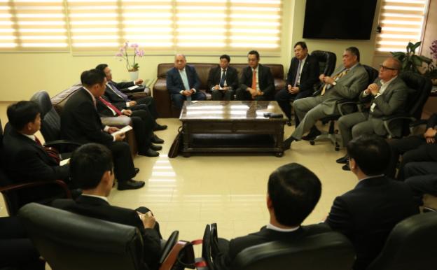 Ministro José Ramón Fadul recibe visita de cortesía de Comisión Vietnamita