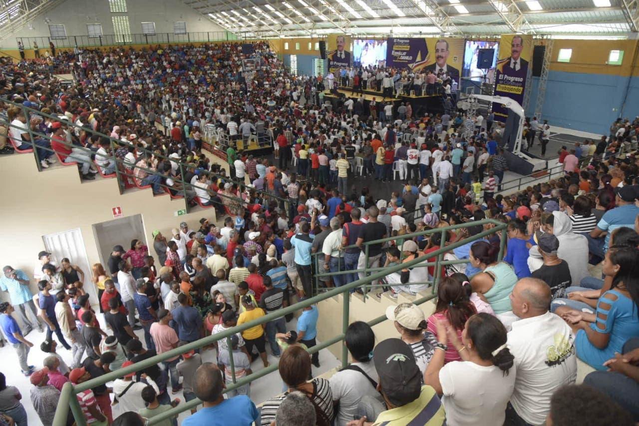 «Cuatro años más», claman durante acto de apoyo a Danilo Medina en provincia Espaillat