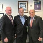 Luis con Giuliani y Huvane