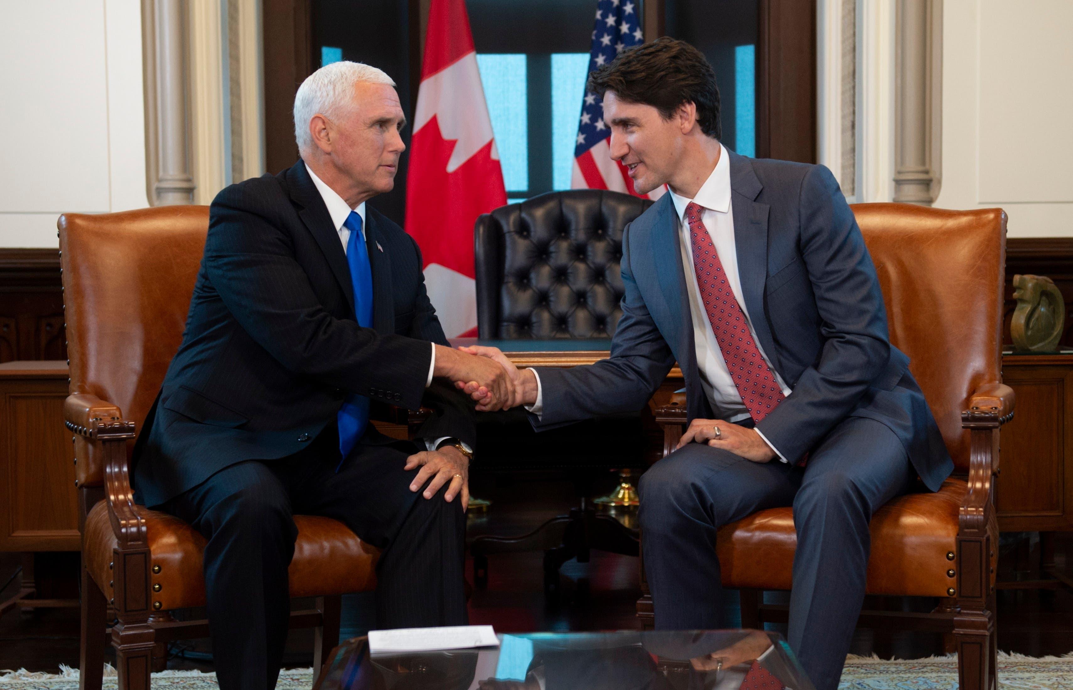 Vicepresidente de EE.UU. Mike Pence tratará conflicto de Venezuela con primer ministro canadiense