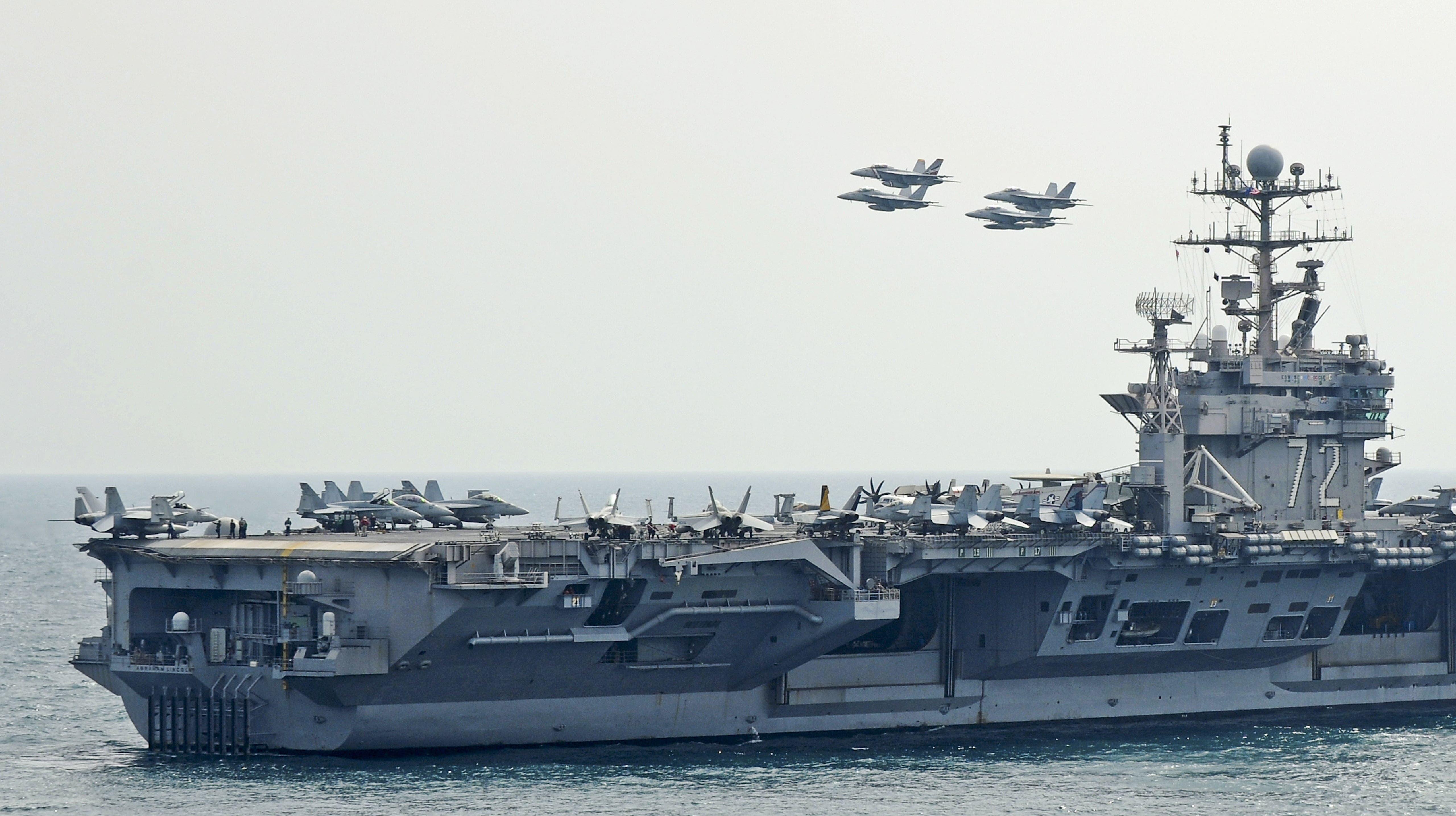 EEUU despliega grupo aeronaval en Oriente Medio por amenazas de Irán