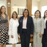 2. Las gerentes Johanna Palmo, Maylleny Henríquez, María Alcántara, Esperanza Sandoval y Gloriví Henríquez.