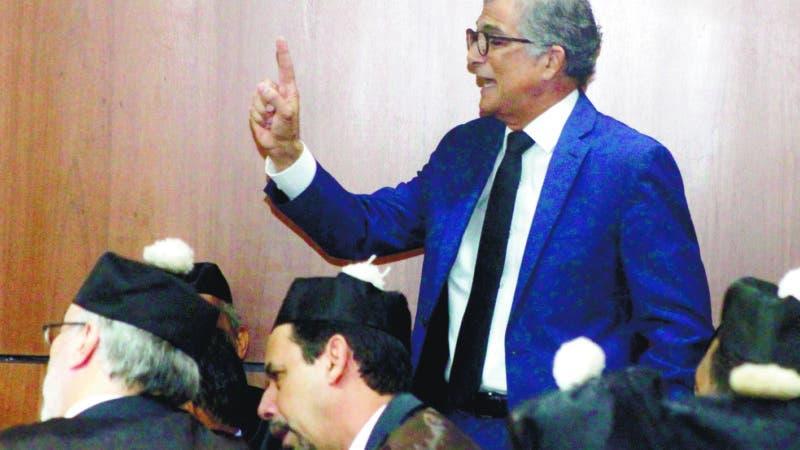 Hoy continua el juicio de Odebrecht y los acusado de corrupción, a si los abogados de cado uno de la defensa se empeñan a fondo para aclara todo. En foto :  Conrado pitaluga HOY Duany Nuñez 22-4-2019