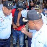 Conocimiento de medida de coersion e la fiscalia Santo Domingo este a Alexander perez vizcaino alias Hueso. Imputado del caso David Ortiz. 17-06-19 Foto: Jose Adames Arias