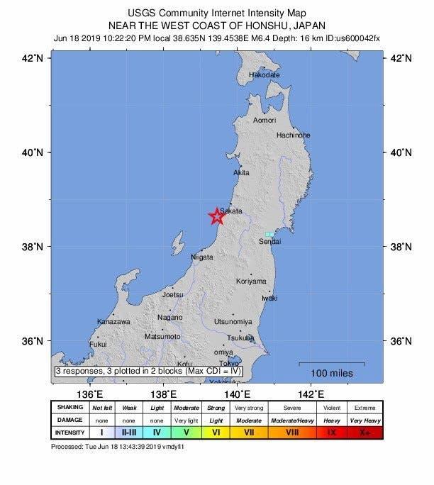 Video: Terremoto de 6,8 remece Japón, activando alerta de tsunami