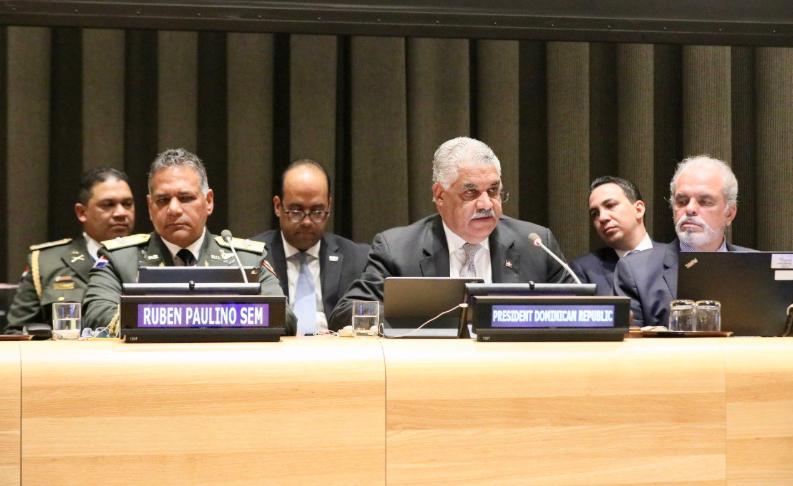 República Dominicana pide en ONU mayores acciones contra narcotráfico y crimen organizado