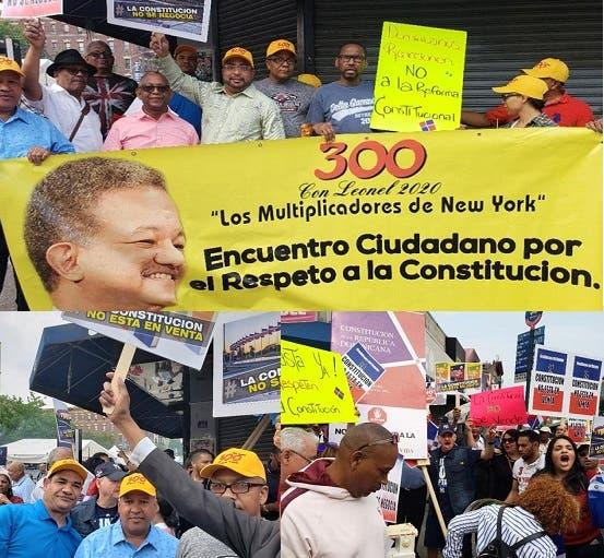 Video: Se movilizan en Nueva York contra intento modificar Constitución de RD