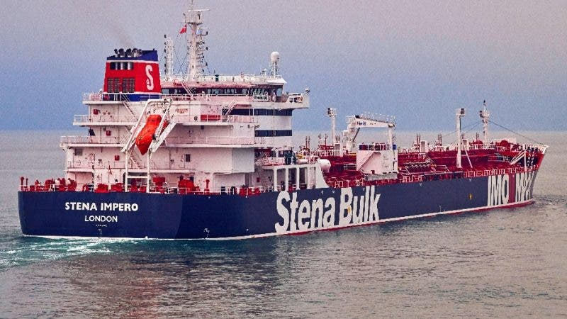At Sea (---), 02/10/2018.- An undated handout photo made available by Stena Bulk shows British registered oil tanker 'Stena Impero' at sea. According to reports on 19 July 2019, Iranian Revolutionary Guard Corps (IRGC) claims to have seized Stena Impero at the Strait of Hormuz with 23 crew on board. Stena Bulk has issued a statement that 'UK registered vessel Stena Impero was approached by unidentified small crafts and a helicopter during transit of the Strait of Hormuz while the vessel was in international waters. We are presently unable to contact the vessel which is now heading north towards Iran.' (Reino Unido) EFE/EPA/TOMMY CHIA / STENA BULK / HANDOUT HANDOUT EDITORIAL USE ONLY/NO SALES