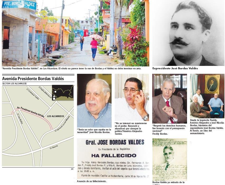 Calles y avenidas: Bordas Valdés, un presidente honesto olvidado por todos