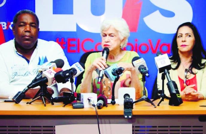 Milagros Ortiz Ofrece detalles de la actividad convocada por Luis Abinader