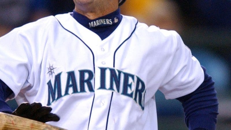 ** FILE ** Seattle Mariners' Edgar Martinez reacts to a called third strike with the bases loaded in the seventh inning against the Baltimore Orioles Wednesday, May 19, 2004, in Seattle.  The Mariners have been one of baseball's top teams in recent years, winning a remarkable 116 games only three seasons back. So far in 2004, however, they are one of the worst clubs in the majors. (AP Photo/Elaine Thompson)