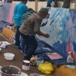 Artistas Pintando la contitucion.