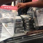 Oficiales dela Dirección Nacional de Control de Drogas (DNCD), coordinados por miembros delMinisterio Público y apoyados por agencias de inteligencia, ocuparon 91 kilosde cocaína en un operativo de interdicción realizado en la provincia Duarte. 14-7-2019 HOY/ Fuente externa