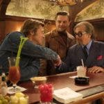"This image released by Sony Pictures shows, from left, Leonardo DiCaprio, Brad Pitt and Al Pacino in Quentin Tarantino's ""Once Upon a Time in Hollywood.""  (Andrew Cooper/Sony-Columbia Pictures via AP)"