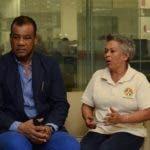 Tony Rodríguez, Edettey Moserrat Lara candidato de la agrupación de Farmacia Dominicana. Santo Domingo Rep. Dom. 16 de julio de 2019. Foto Pedro Sosa