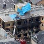 Kyoto (Japan), 11/07/2019.- Firefighters search for missing people at the Kyoto Animation Co building, in Kyoto, western Japan, 18 July 2019. At least 25 people have died and 36 were injured after a suspected arsonist set fire to the anime studio, according to Japanese media reports. (Incendio, Japón) EFE/EPA/JIJI JAPAN OUT EDITORIAL USE ONLY/ NO ARCHIVES NO ARCHIVES