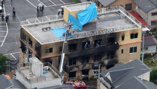 Mueren 33 en fuego provocado en estudio animación Japón