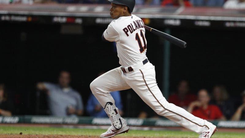 El bateador dominicano Jorge Polanco de los Mellizos de Minnesota en acción este martes, durante el Juego de las Estrellas de la MLB, en Progressive Field de Cleveland, Ohio (EE.UU.).  EFE/ John G. Mabanglo